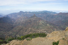 Roque Bentayga from Roque Nublo Stock Images