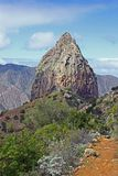 Roque Cano, La Gomera Photos stock