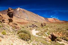 Roque Cinchado with famous Pico del Teide mountain volcano Stock Photography