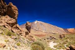 Roque Cinchado with Pico del Teide Stock Photography