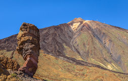 Roque Cinchado and Teide Royalty Free Stock Photo