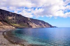 Roque de Bonanza beach in El Hierro. Canary islands Spain stock image