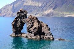 Roque de Bonanza beach in El Hierro. Canary islands Spain stock photo
