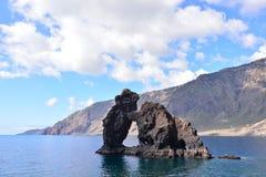 Roque de Bonanza beach in El Hierro. Canary islands Spain royalty free stock image