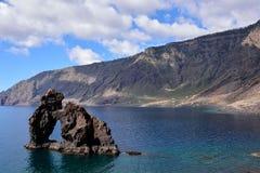 Roque de Bonanza beach in El Hierro. Canary islands Spain stock images