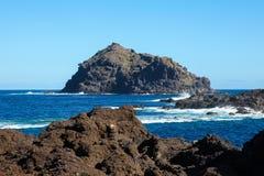 Roque de Garachico on Tenerife royalty free stock photos