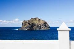 Roque de Garachico on Tenerife stock photography