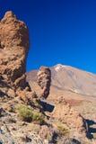 Roque de Garcia, Pico del Teide, Тенерифе, Испания Стоковая Фотография RF