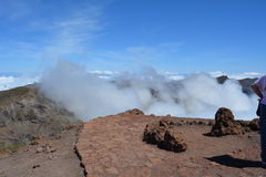 Roque de los muchachos La Palma, Ilhas Canárias, Espanha Imagem de Stock