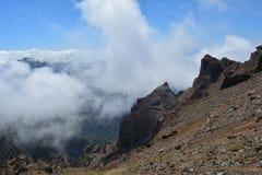 Roque de los muchachos La Palma, Ilhas Canárias, Espanha Foto de Stock Royalty Free