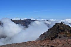 Roque de los muchachos La Palma, Ilhas Canárias, Espanha Fotografia de Stock Royalty Free