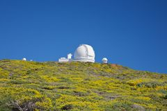 Roque de los Muchachos observatories Stock Photography