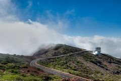 Roque de los Muchachos Observatory, La Palma Stock Photo