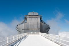 Roque de los Muchachos Observatory, La Palma. Canary islands, Spain Royalty Free Stock Image