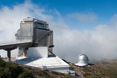 Roque de los Muchachos Observatory, La Palma. Canary islands, Spain Stock Photography
