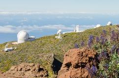 Roque de los Muchachos Observatory in La Palma. Stock Image