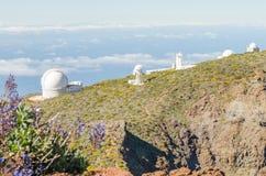 Roque de los Muchachos Observatory in La Palma. Royalty Free Stock Image