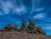 Roque de los Muchachos peak. In Canary Islands Stock Images