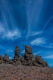 Roque de los Muchachos peak. In Canary Islands Stock Photography