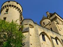 roque för malartrie för la för gageac för chateaude france Royaltyfri Fotografi