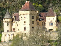 roque för malartrie för la för gageac för chateaude france Royaltyfria Bilder