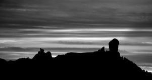 Roque Nublo на наступлении ночи Стоковые Фото