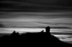 Roque Nublo на наступлении ночи Стоковые Фотографии RF