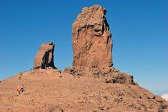 Roque Nublo (den fördunklade rocken) - Gran Canaria fotografering för bildbyråer