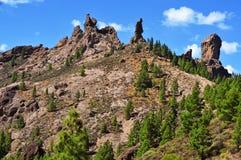 Roque Nublo em Gran Canaria, Espanha fotos de stock