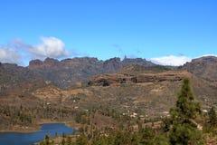 Roque Nublo emblem?tico, monumento natural simb?lico de Gran canaria, Ilhas Can?rias fotos de stock royalty free