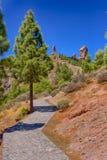 Roque Nublo in Gran Canaria, spain Royalty Free Stock Image