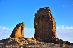 Roque Nublo, het eiland van Gran Canaria Stock Afbeelding