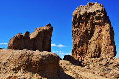 Roque Nublo monolith in Gran Canaria, Spain. A view of Roque Nublo monolith in Gran Canaria, Spain stock photo