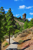 Roque Nublo monolith in Gran Canaria, Spain Royalty Free Stock Photo