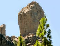 Roque Nublo national park Royalty Free Stock Photography