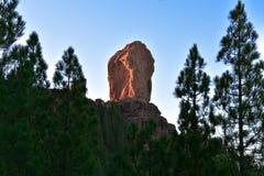 Roque Nublo Rock fotografía de archivo
