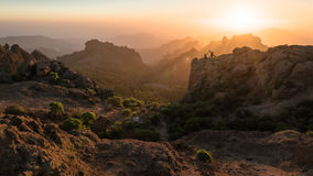 Roque Nublo sunset. Sunset in Roque Nublo, Canary islands Stock Image