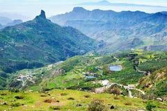 Roque Nublo Tejeda, Gran Canaria Stockfotos