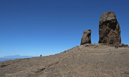 Roque Nublo and Tenerife Royalty Free Stock Image