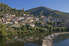 Roquebrun Royalty Free Stock Photo