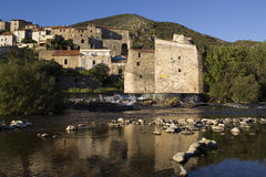 Roquebrun. View of the River Orb at Roquebrun Royalty Free Stock Images