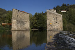 Roquebrun. View of the River Orb at Roquebrun Royalty Free Stock Photography