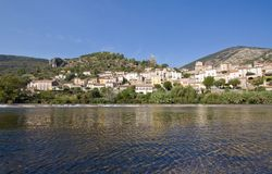 Roquebrun royalty free stock photos