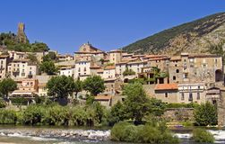 Roquebrun in the Languedoc Stock Photo