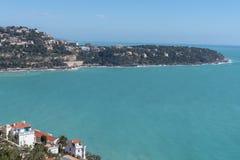 Roquebrune盖帽马丁,法国海滨 免版税库存图片