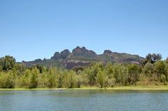 湖roquebrune 库存图片