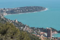 Roquebrune Cap Martin, French Riviera royalty free stock photo