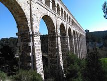 The Roquefavour Aqueduct in Provence stock images