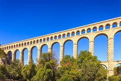 Roquefavour historic old aqueduct landmark in Provence, France. Royalty Free Stock Images
