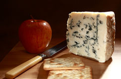 Roquefort and apple low angle Royalty Free Stock Photo